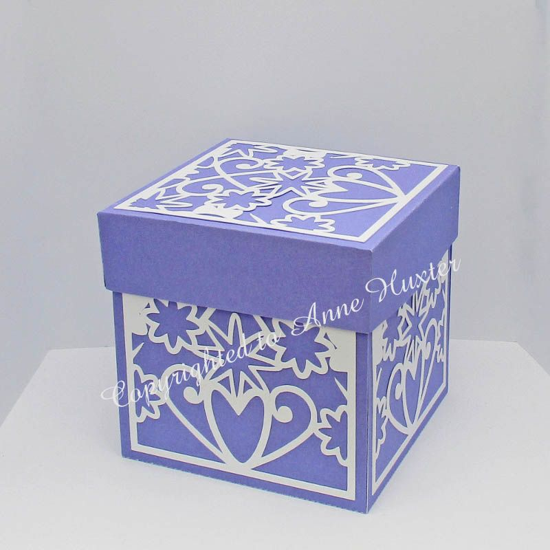 Flowers Hearts Exploding Box Template